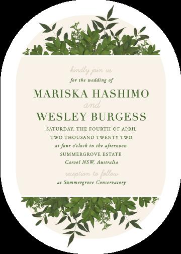 Mod Botanical Wedding Invitations - wedding invitations