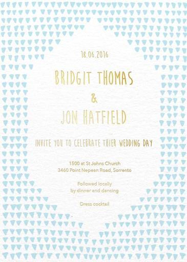 Droplets Wedding Invitations - wedding invitations