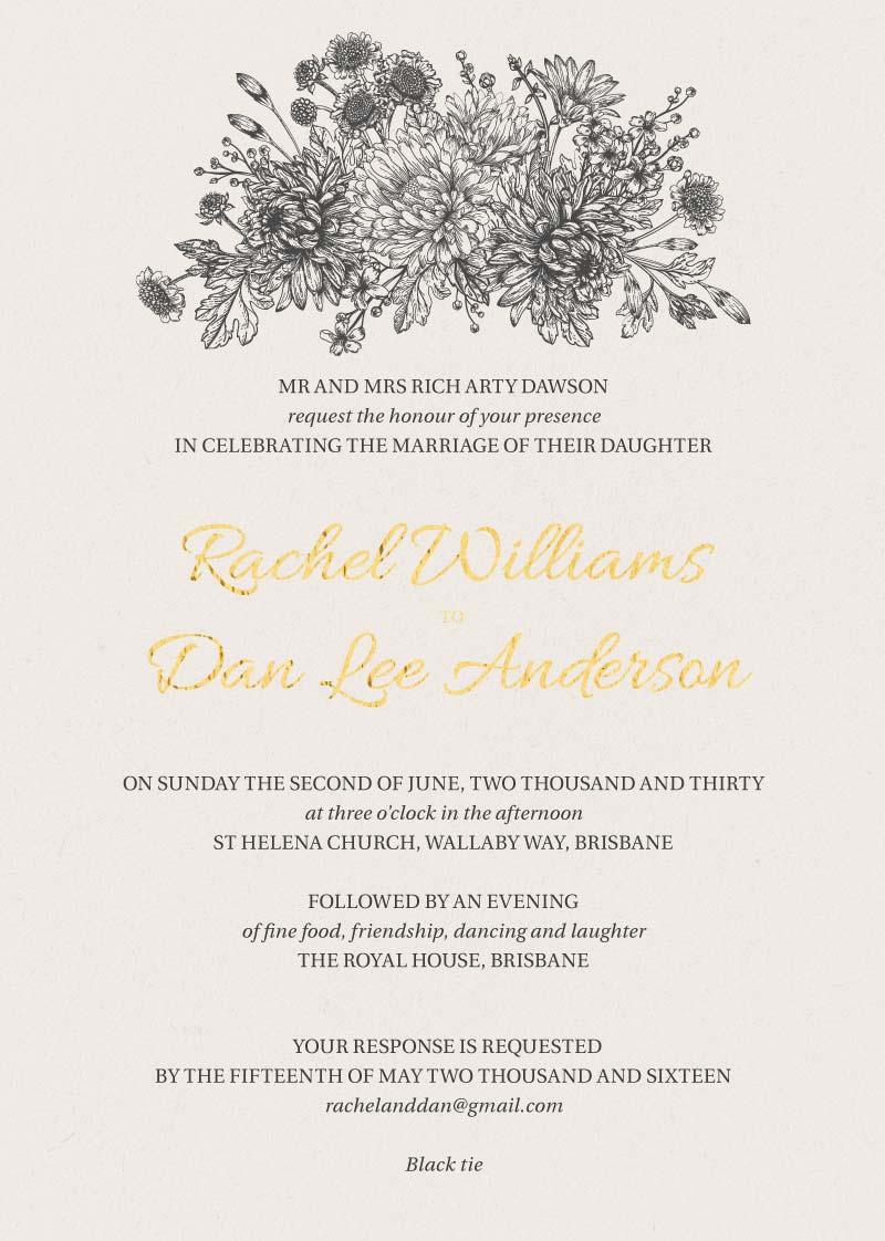 Bluemchen Wedding Invitations - wedding invitations