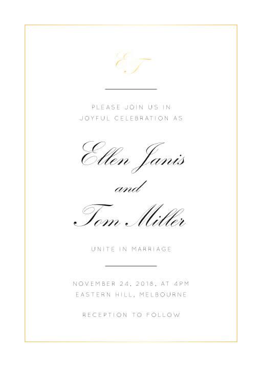 Into the Line Wedding Invitations - wedding invitations