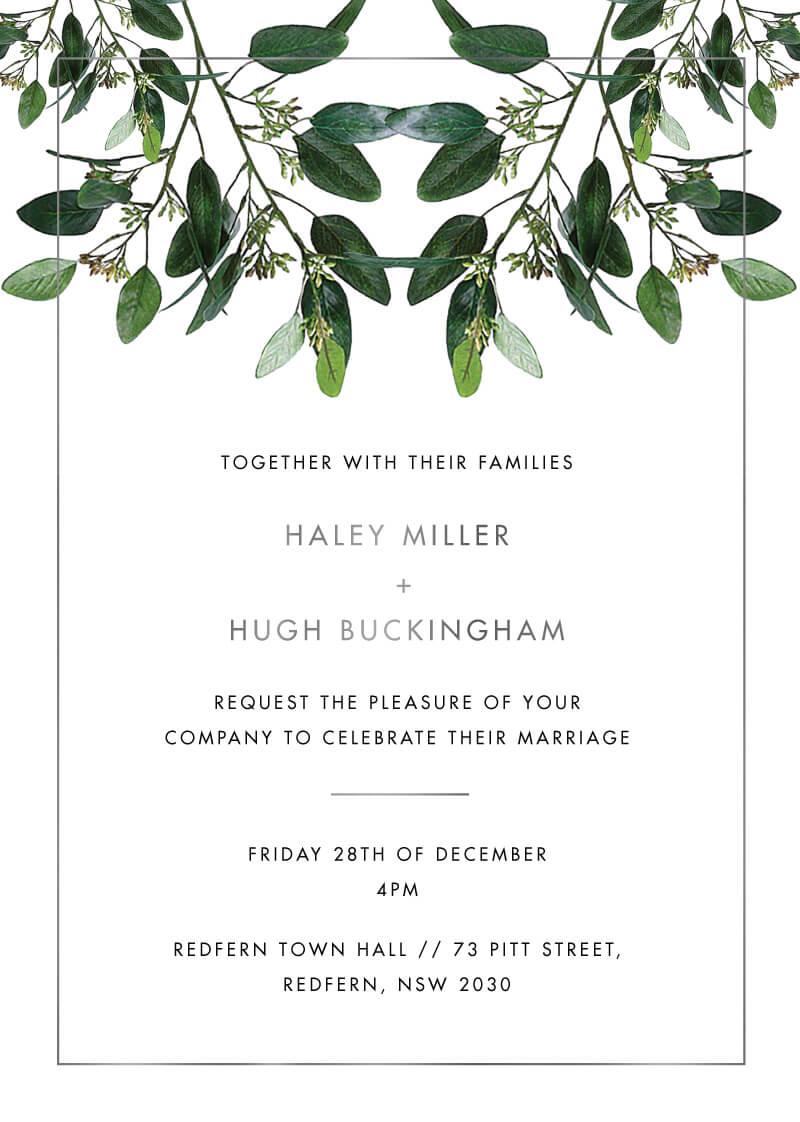 Garden Estate Wedding Invitations - wedding invitations