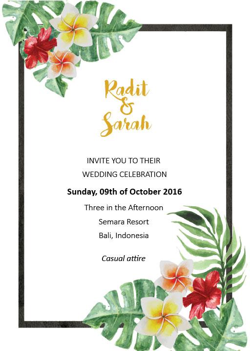 Simply Tropics Wedding Invitations - wedding invitations