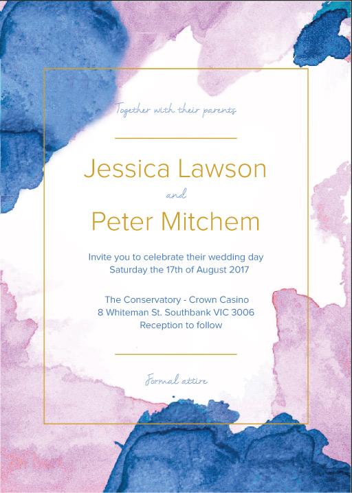 L'acqua Wedding Invitations - wedding invitations
