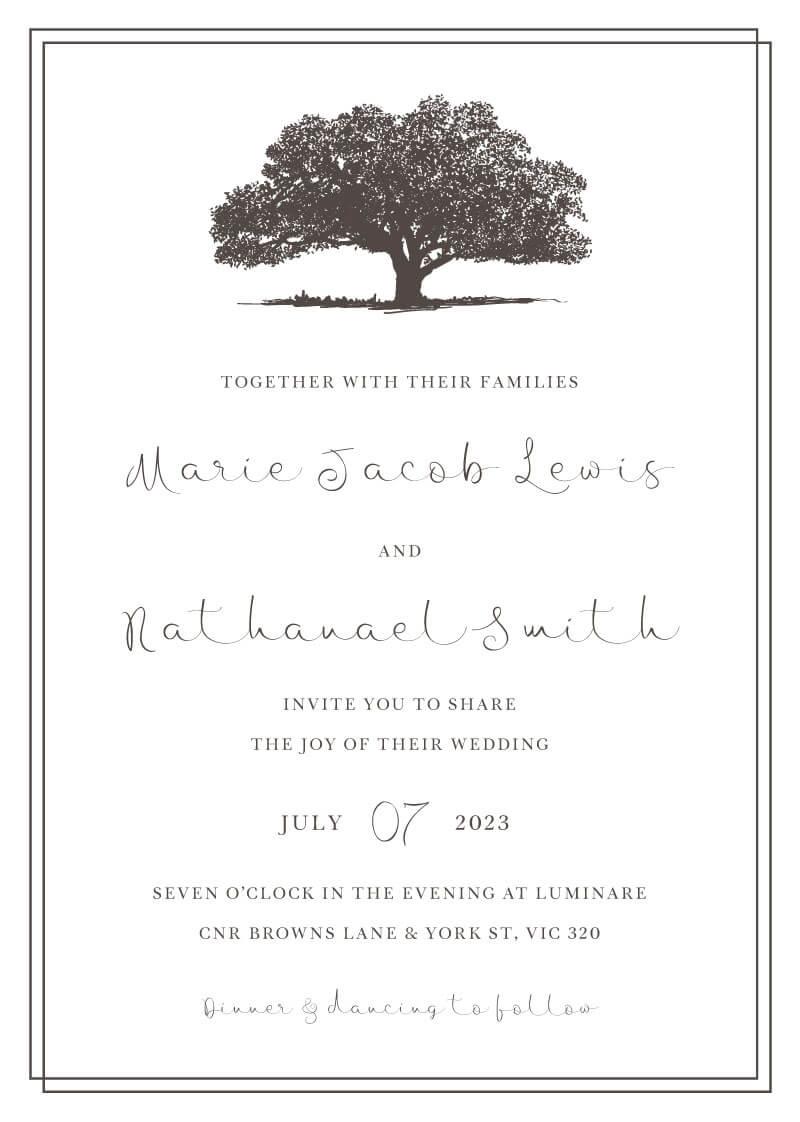 Quercus Wedding Invitations - wedding invitations