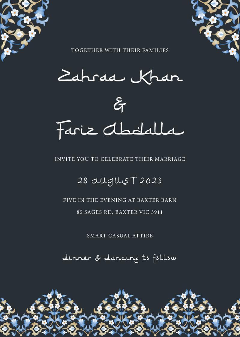 Eastern Style Wedding Invitations - wedding invitations