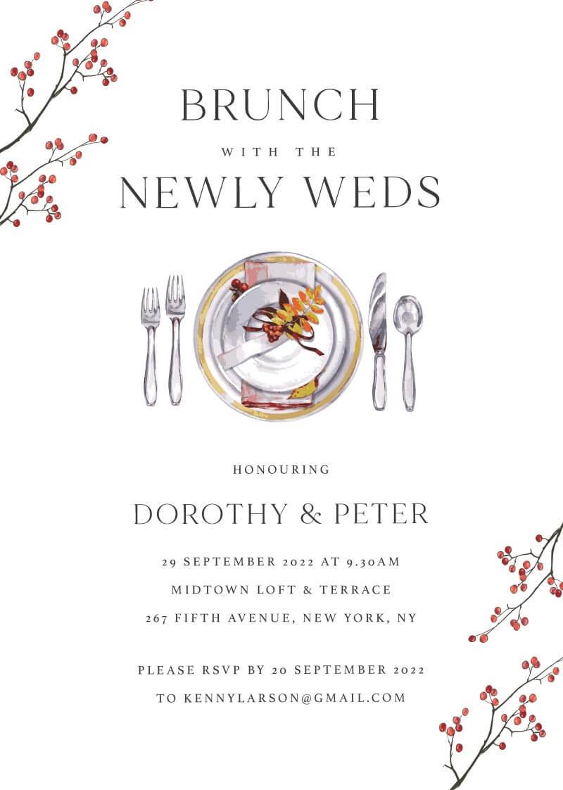 Brunch With Us Wedding Invitations - wedding invitations