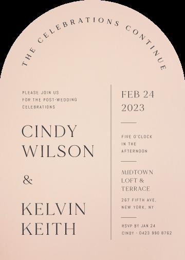 Minimalisme Wedding Invitations - wedding invitations