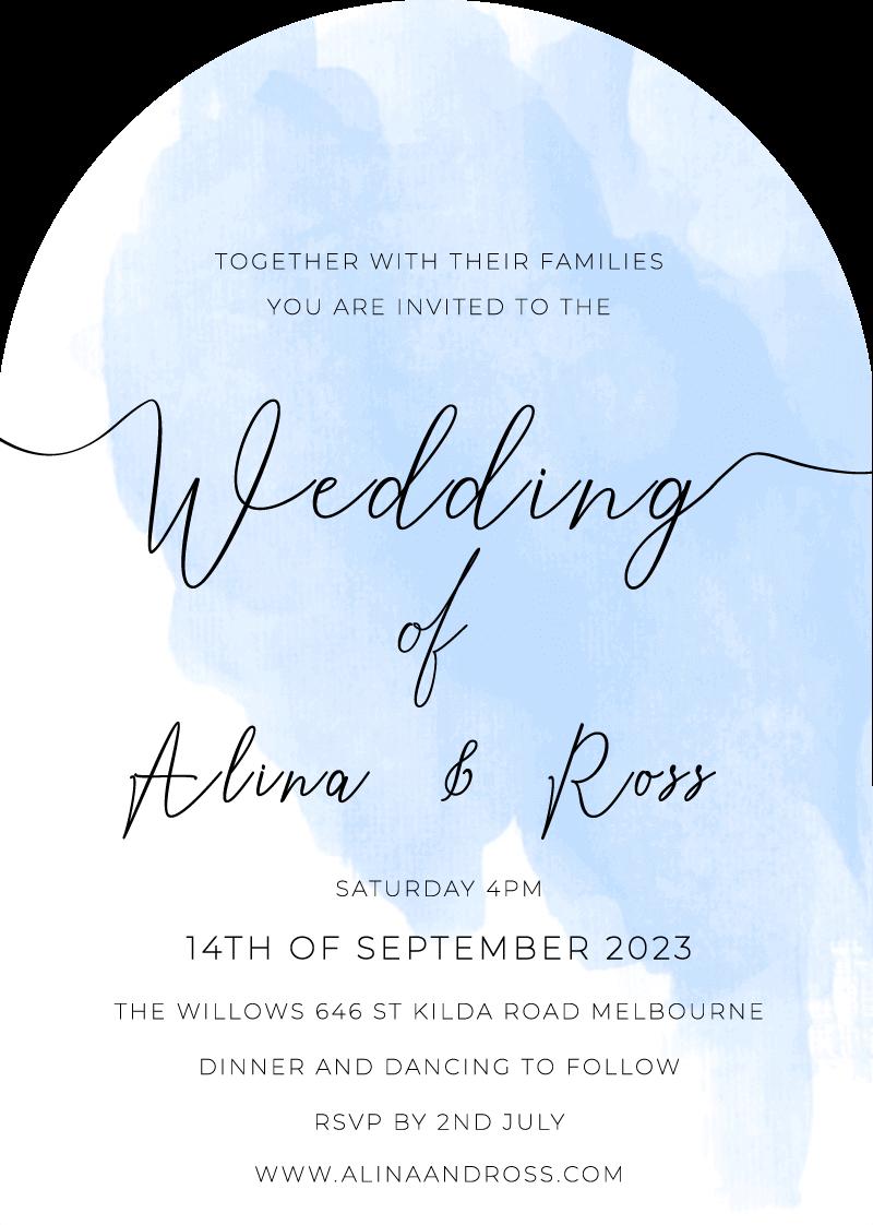 Rosey Wedding Invitations - wedding invitations