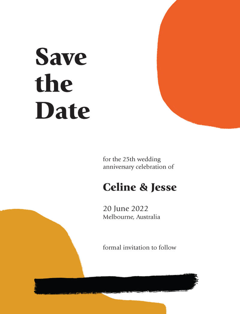 Colorful Gouache Save The Date - Save The Date