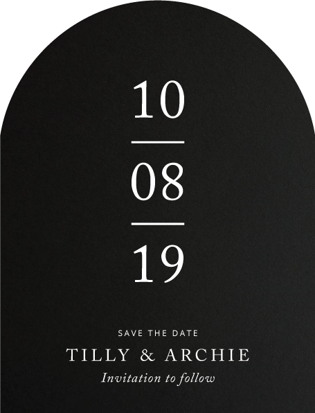 Black and White Save The Date - Save The Date