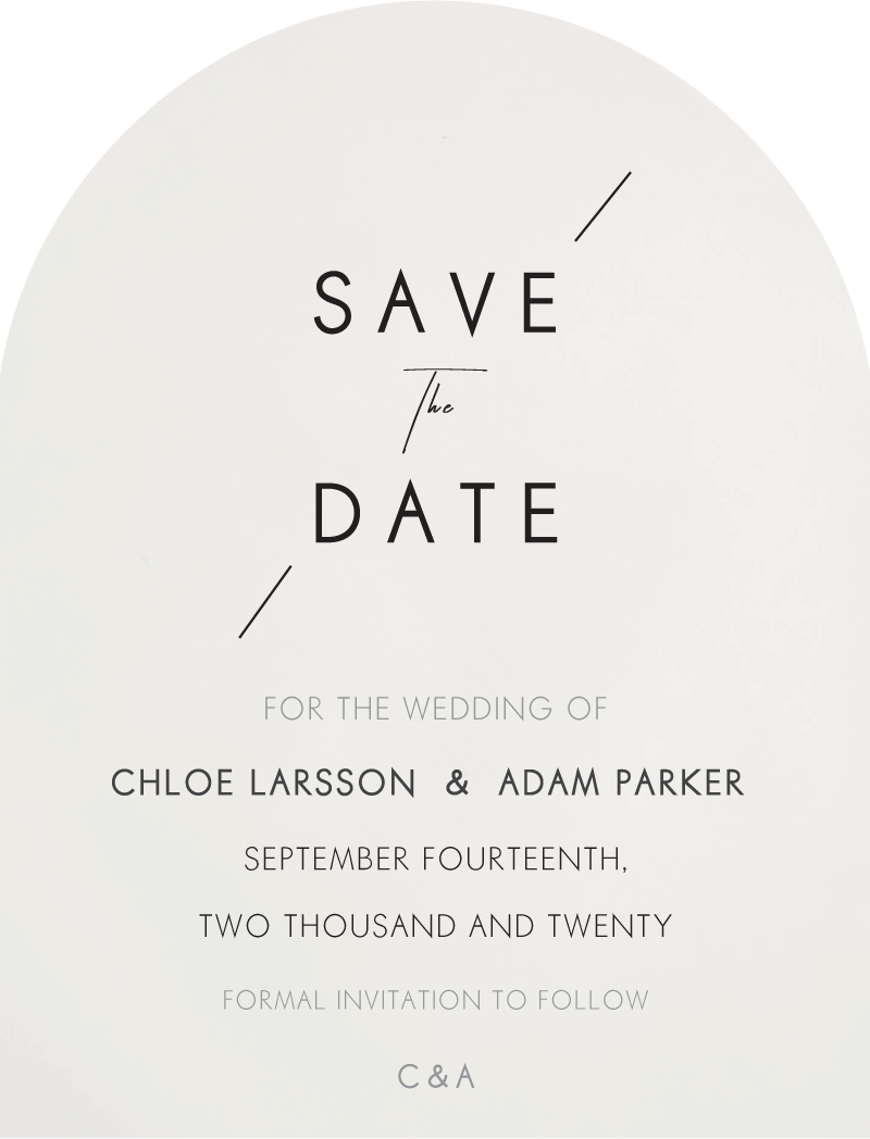 Modern Mode Save The Date - Save The Date