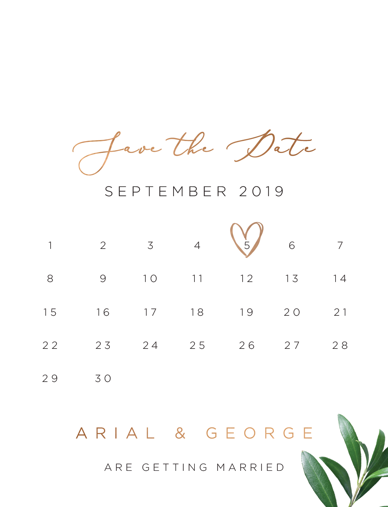 Olive Save The Date - Save The Date