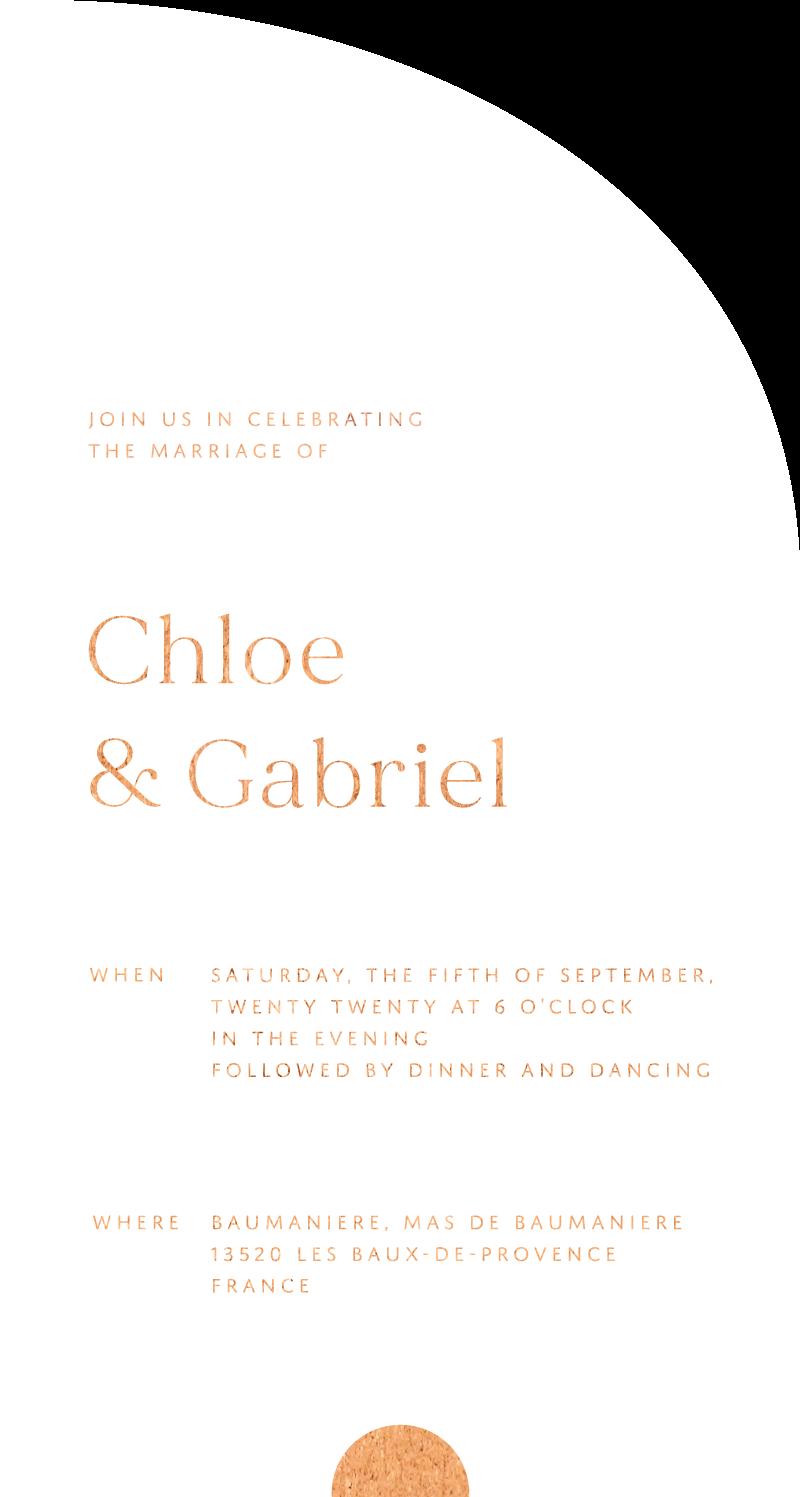 Oliva Wedding Invitations - wedding invitations