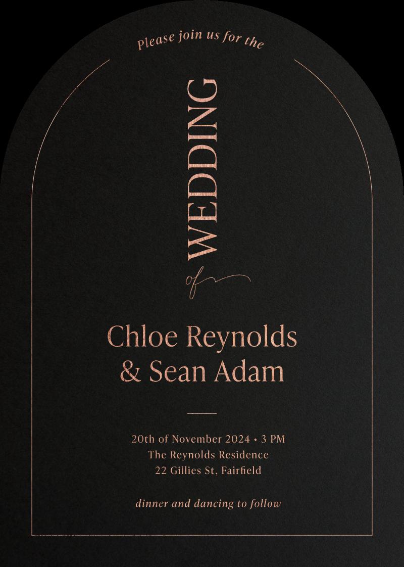 Chloe Wedding Invitations - wedding invitations