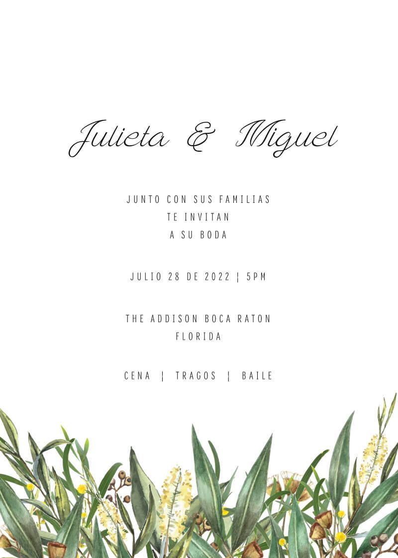A Bouquet Wedding Invitations - wedding invitations
