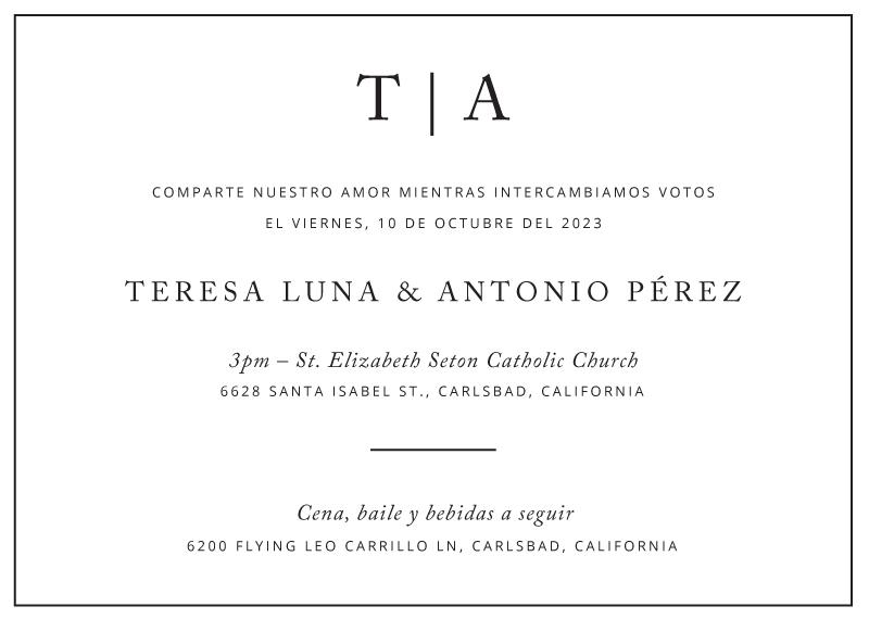 Black and White Wedding Invitations - wedding invitations