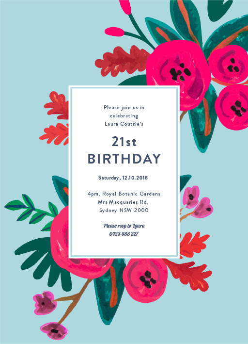 21st Birthday Invitations Customize And Print Online With Paperlust
