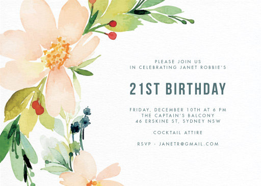 Birthday Party Invitations Customize And Print Online
