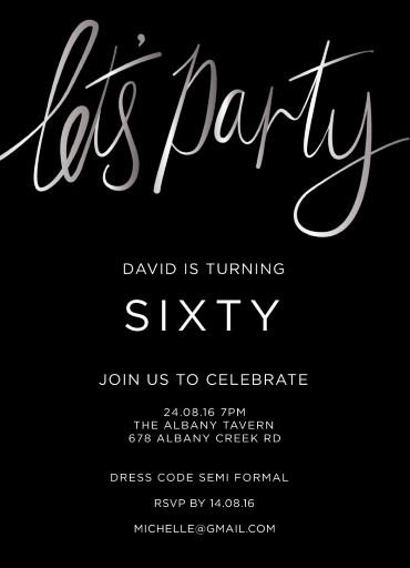 60th Birthday Invitations Customize