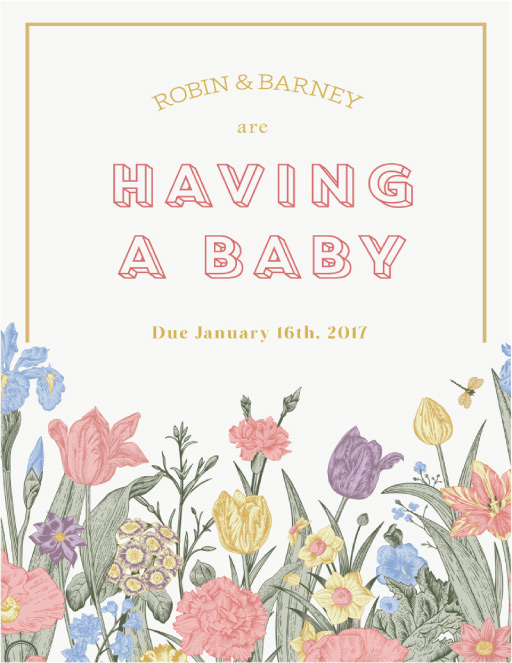 The Magnificent Garden Baby Announcement - baby announcements