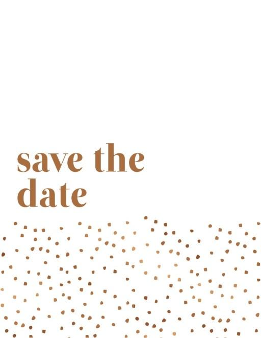 Minimalist Spot Save The Date - Save The Date