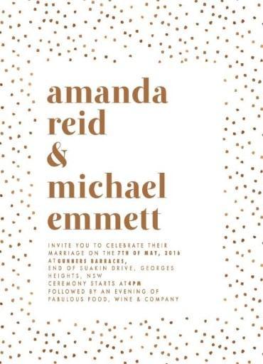 Minimalist Spot Invitation - wedding invitations