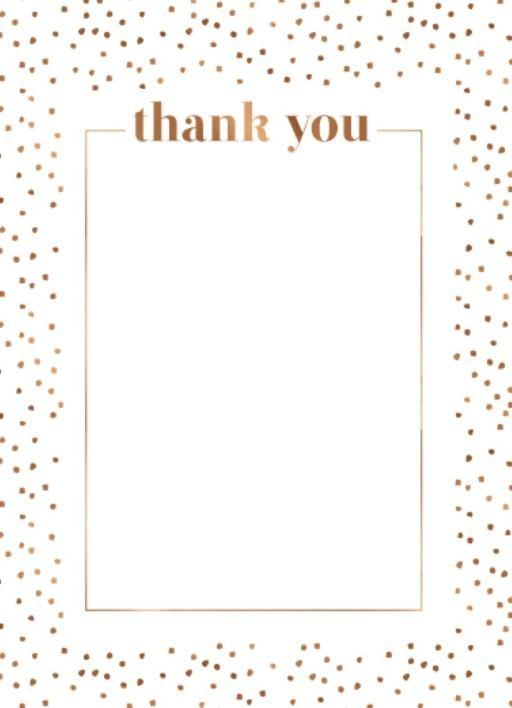 Minimalist Spot Thank You Card - Wedding Thank You Cards