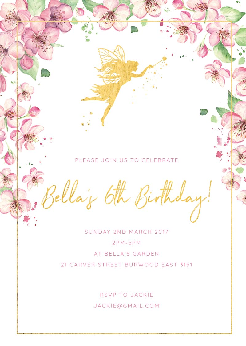 6th birthday invitations designs by