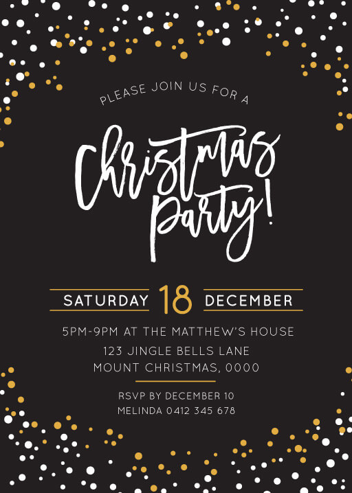 Christmas Party Invitations Customise Print With Paperlust