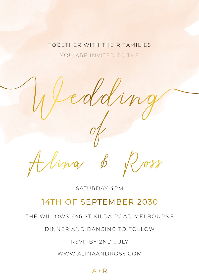 Colors can be customized Matching RSVP separate 5x7 inches JPEG or PDF Ivory Digital Wedding Invitation Purple and Brown with heart