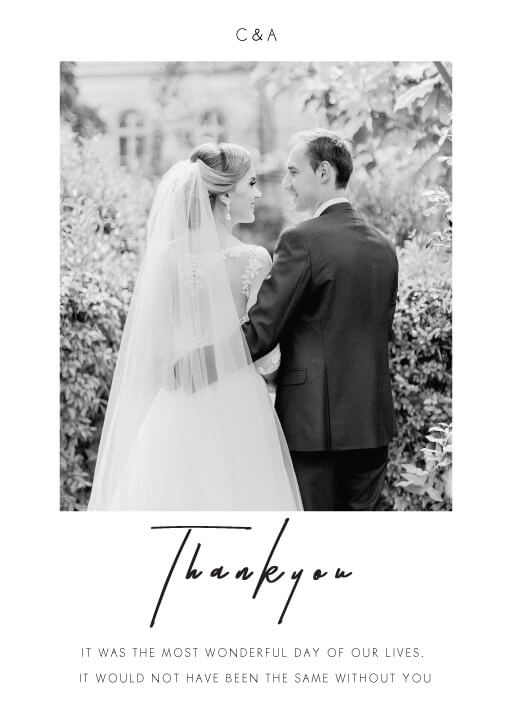 Thank You Cards Wedding Thank You Cards
