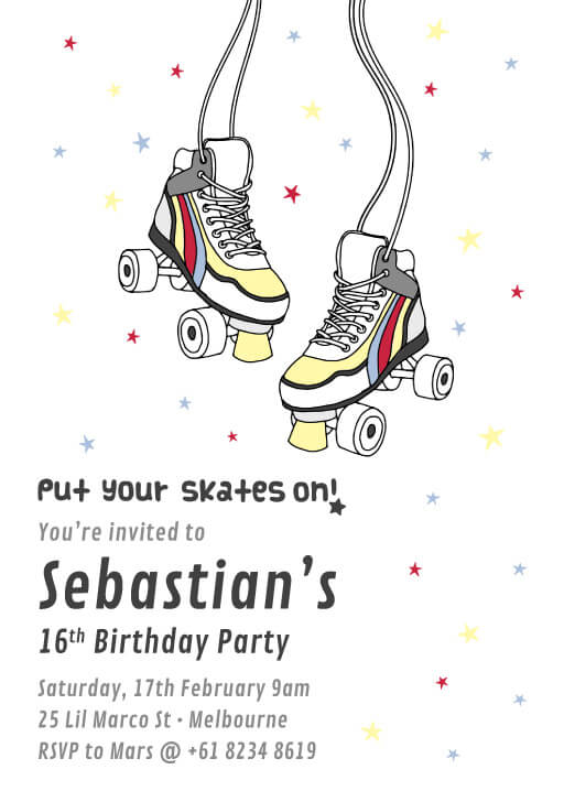 16th Birthday Invitations Customize And Print Online Paperlust