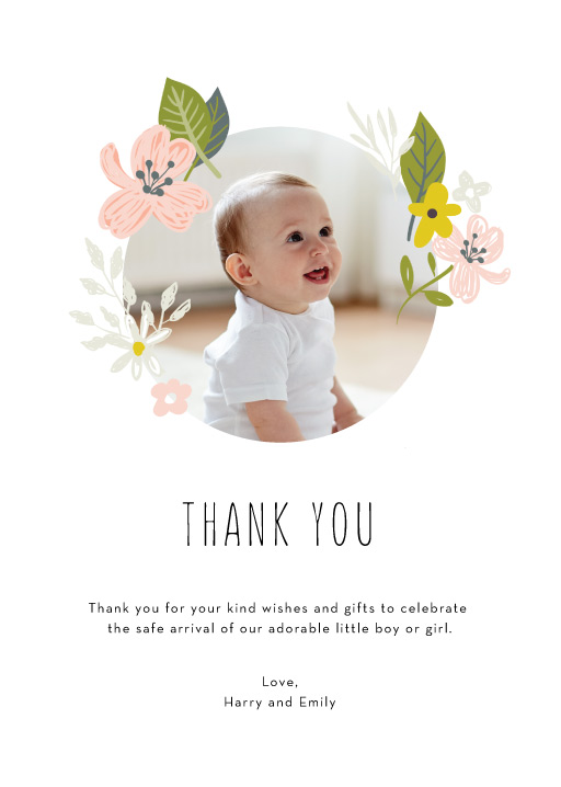 Baby Thank you cards~Cute green baby shirt shaped~Pack of 6
