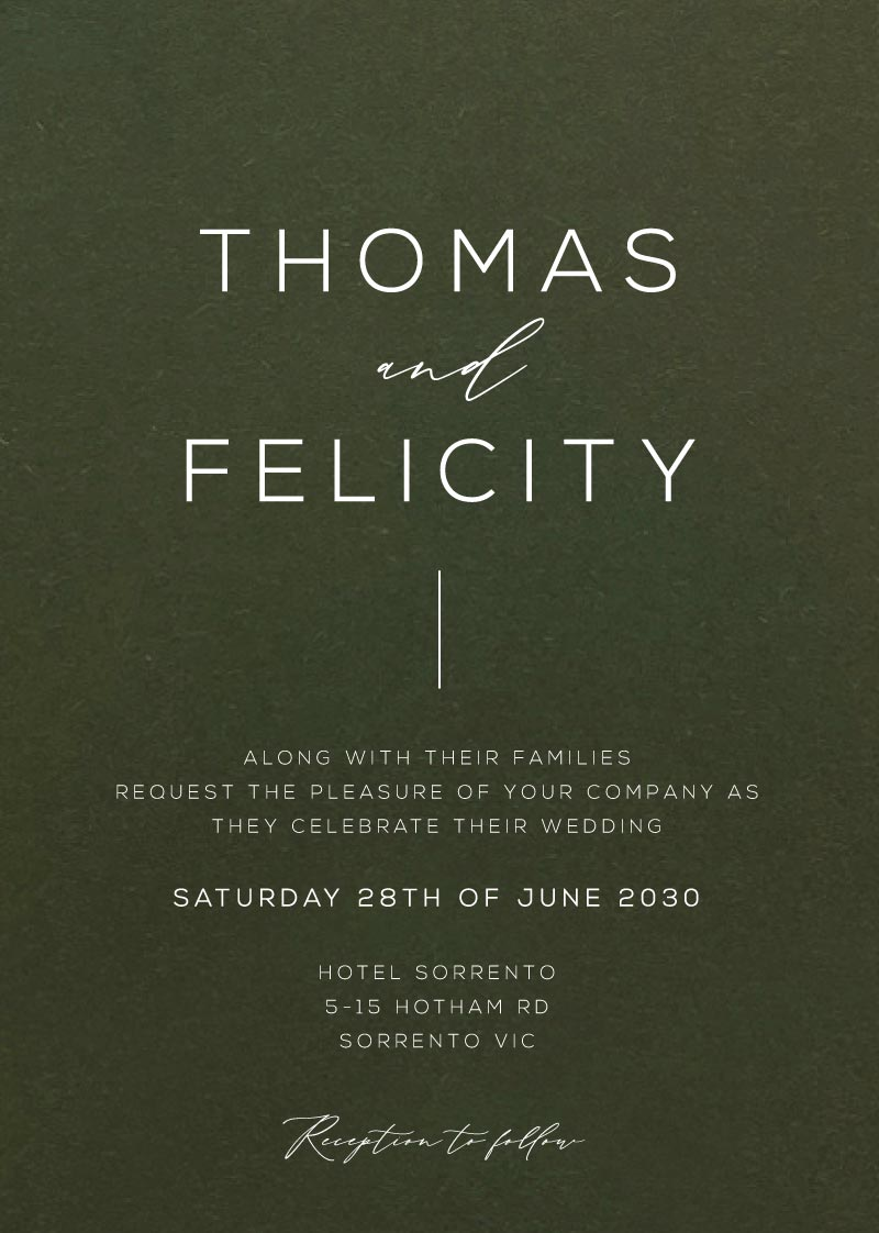Preferenza Wedding Invitations By Paperlust | Customise And Print Online CP32