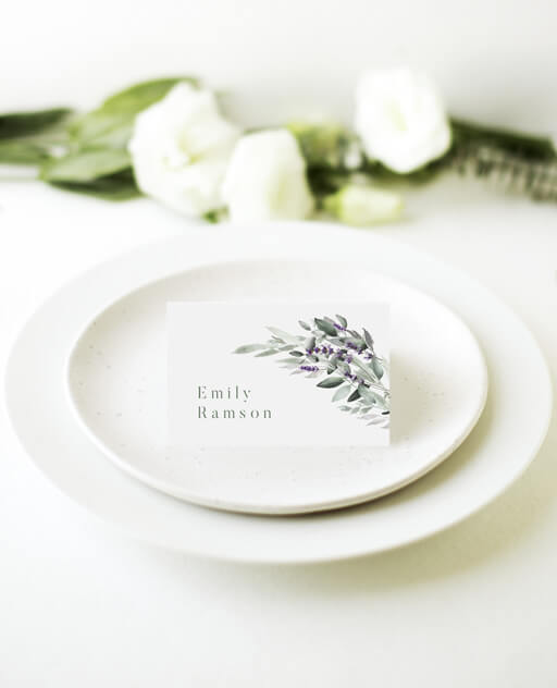 Lavender Leaves - Place Cards