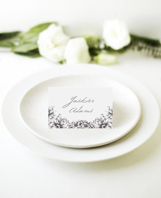 Pencil Floral Crown - Place Cards