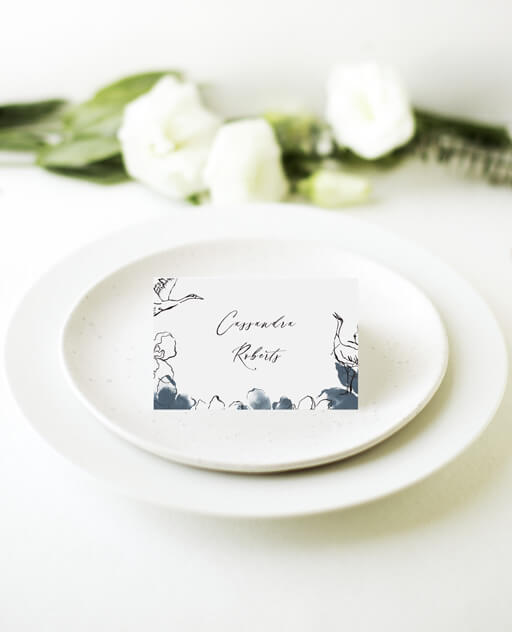 Swan Frame - Place Cards