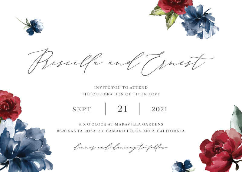Flower Code Wedding Invitations - wedding invitations