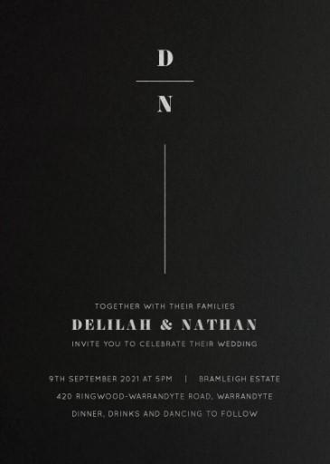 Classic Serif Wedding Invitations - wedding invitations