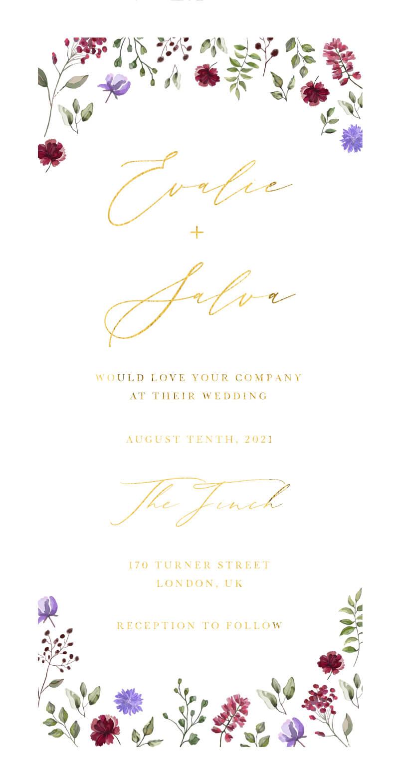 Amaranth Wedding Invitations - wedding invitations