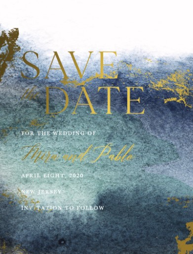 Tanzanite Save The Date - Save The Date