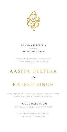 Ganesh Wedding Invitations - wedding invitations