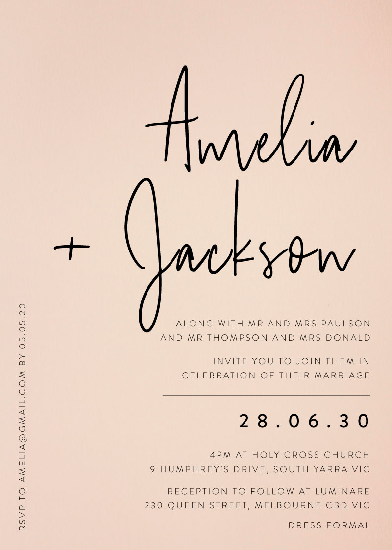 NZ Wedding Invitations  Designs By Creatives