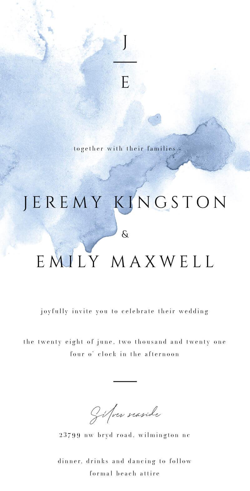Conosciuto Wedding Invitations By Paperlust | Customise And Print Online UG32