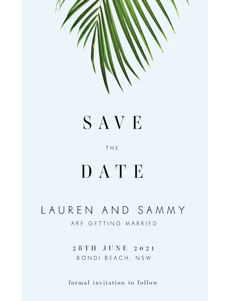 Beach Save The Dates Date