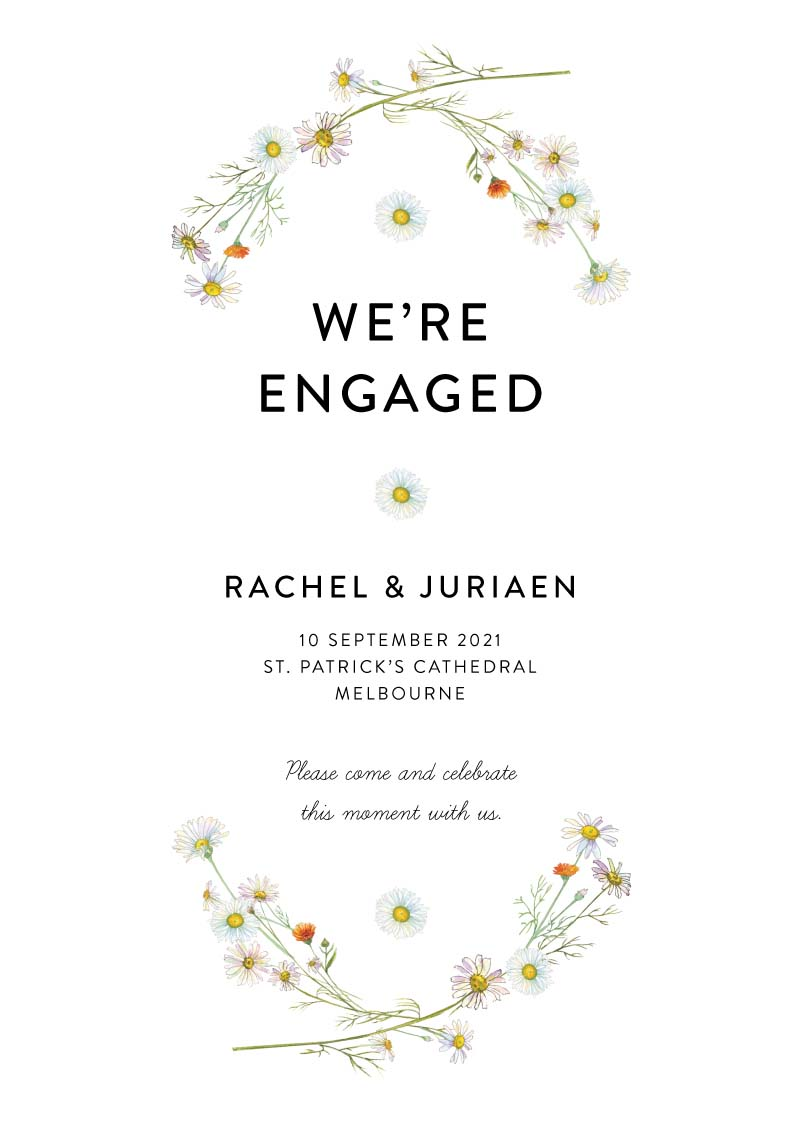Engagement Party Invitations I Customise And Print Online - Paperlust