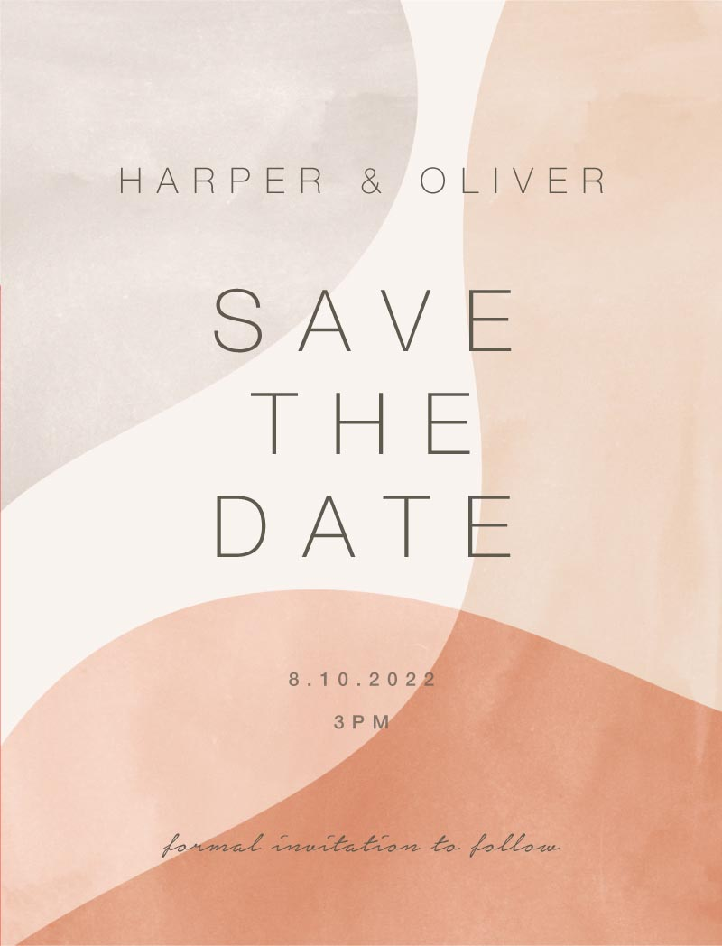 Shape of love Save The Date - Save The Date