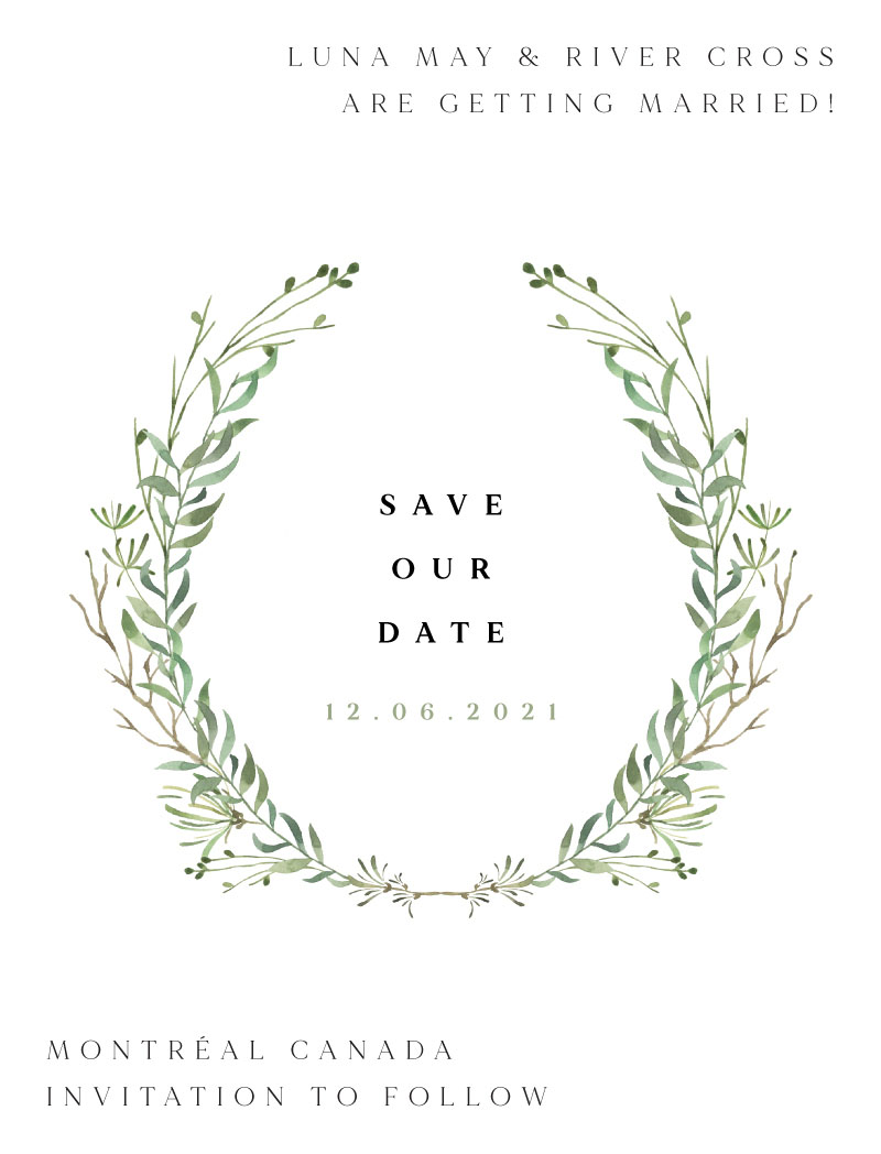 Natural Greenery Save The Date - Save The Date