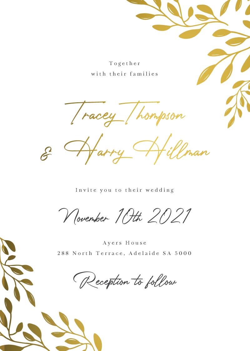 Golden Hour Wedding Invitations - wedding invitations