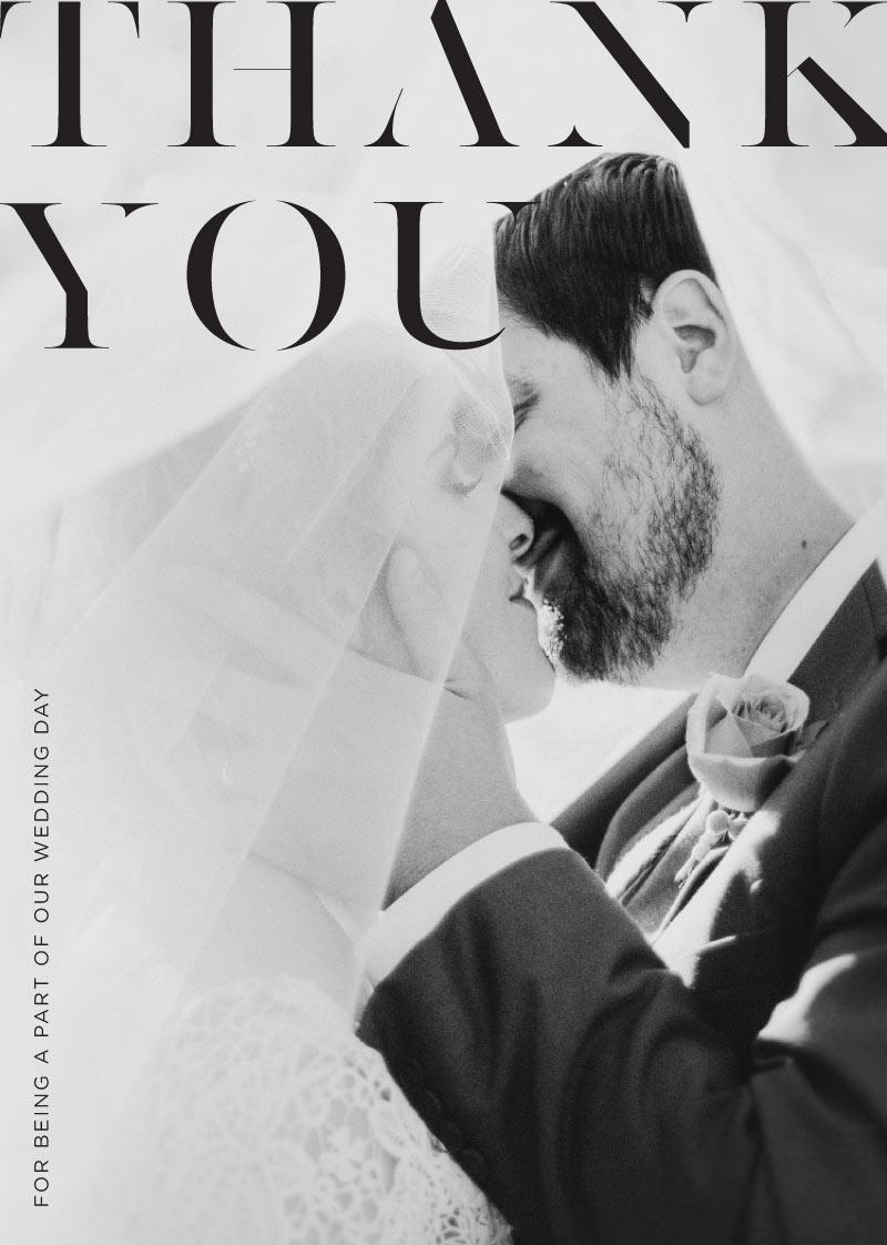 Lissom Thank You - Wedding Thank You Cards